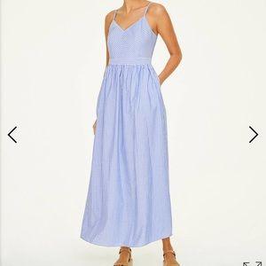 Ann Taylor Loft Striped Pocket Maxi Dress